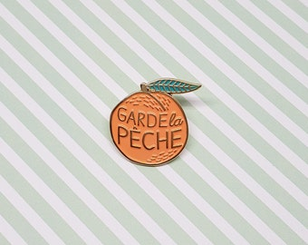 Lapel pins peach illustration