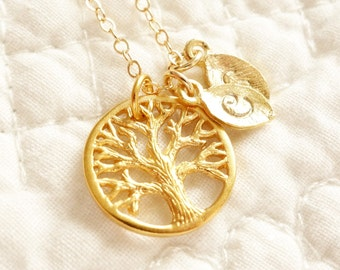 Mother of the Groom Gift / Mother of the Bride Gift / Family Tree of Life Necklace / Personalized Wedding Jewelry / Mother's Day Gift
