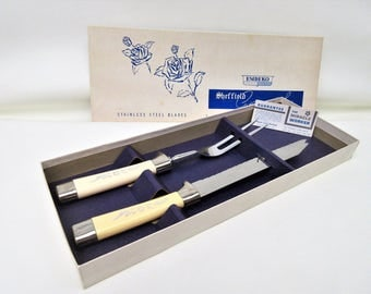 Vintage Sheffield Cutlery | Carving Set | Sheffield Knife Set | Carving Knife | Meat Fork