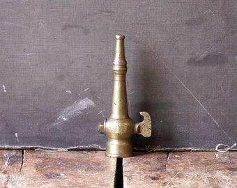 Vintage Brass Nozzle - Small Hose Spigot - Great Man Cave Decor