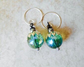 Made in Japan Vintage Glass Beads, Earrings, Vintage Earrings
