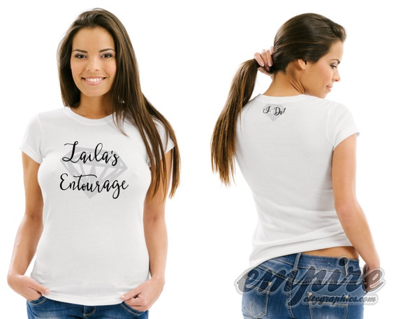 Bridal Entourage tshirts-6 pcs, Personalized Bachelorette tshirt, bachelorette party, Bride tees, bridal party gifts, bachelorette gifts