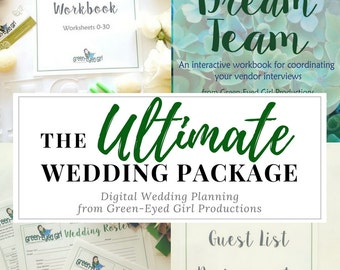 Ultimate Wedding Planning Package: How to Plan your Own Wedding Set, Wedding Planner Book, Wedding Coordinating Book, Template, DIY Bride