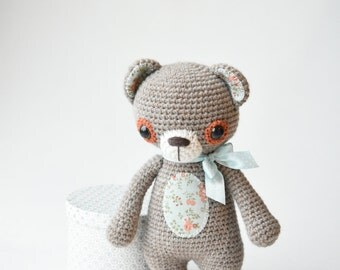 PATTERN - Treasure the Teddy - crochet pattern, amigurumi pattern, pdf