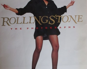 Rolling Stone The Photographs Vintage Hardcover Book 1989 Edition  Photography Journalistic Iconic Images Music Legends Tina Turner Bono