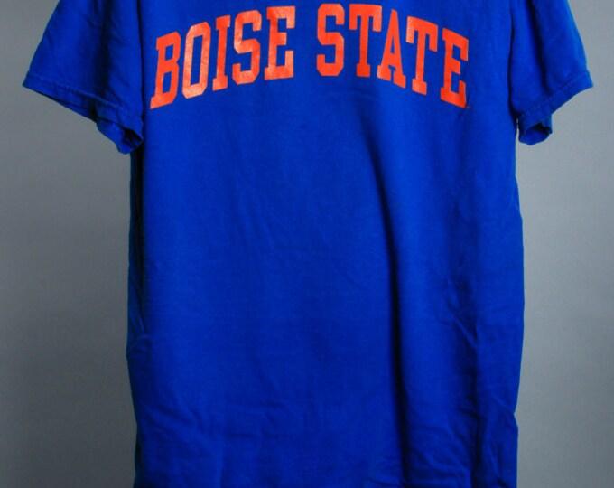 Medium Vintage Boise State T Shirt Blue Orange College Football TShirt 6AA