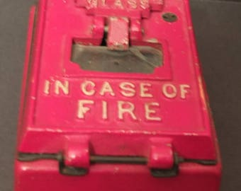 Vintage Fire Alarm Box Fire Department In Case Of Fire Alarm Box