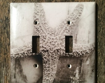 Starfish, Sepia Toned - Double Toggle Switch Plate
