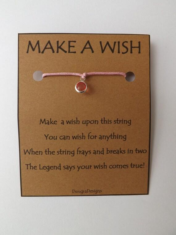 October Pink Tourmaline Wish String