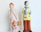 Occupied Japan Figurines Asian Hollywood Regency Chinoiserie Decor