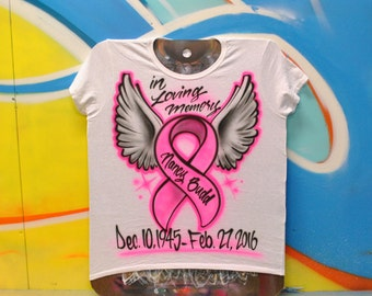 Breast Cancer Airbrush Shirt