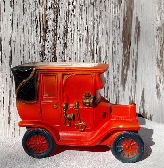 Vintage 1950's Orange Model T Car Planter Vase by Napcoware