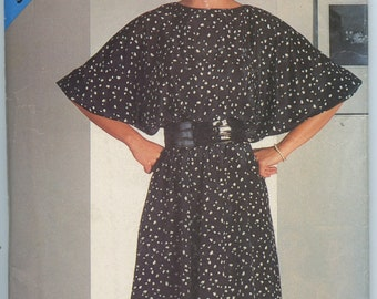 1980's See & Sew 5141 Misses' Pullover Dress with Blouson Bodice Vintage Sewing Pattern Bust 32 - 36 UNCUT