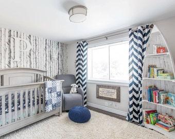 Custom Crib Bedding Navy Blue and Grey Elephant by