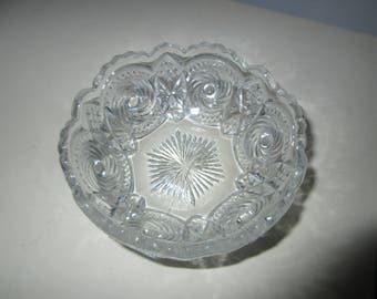 Cannon Ball EAPG bowl 1906 U S Glass, patternglass, charming,chic,serving,tabletop,collectible glass,Antique glass