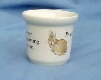 Vintage Peter Rabbit Egg Cup - Wedgwood of Etruria & Barlaston - Ceramic