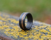 Whiskey Barrel Oak and Carbon Fiber Ring