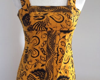 African print sundress extra small