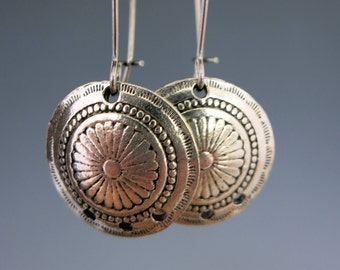 Concho Chandelier Charms, Antique Pewter Earring Chandeliers, 18mm Diameter, Choose 2 or more, Ready to Ship, Made in USA
