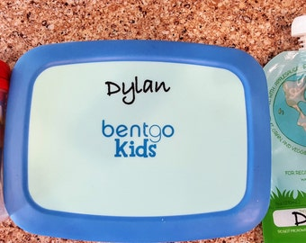 Waterproof Name Label Stickers for Lunch Sets and Water bottles. Set of 10. Semi-permanent, waterproof.