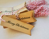 Christmas flag Coffee stained 48 gift tags . vintage inspired tags. primitive . rustic.