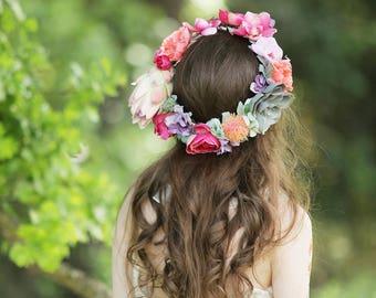 The Super Bloom Crown bridal flower crown