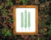 Botanical Fern Print - Modern Wall Art Print