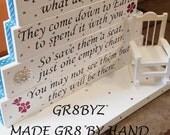 Special Days in Heaven poem table top display handmade memorial decor