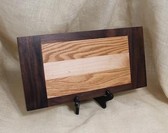 Cheese or Sushi Board Hardwood Maple, Walnut and Oak