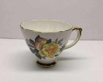 Vintage Delphine Teacup Cup Yellow Rose