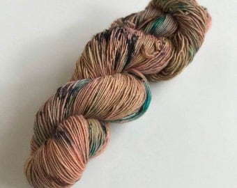 one of a kind - Hand Dyed Yarn - Work It Single Ply Sock - 100% Superwash Merino - {one of a kind}