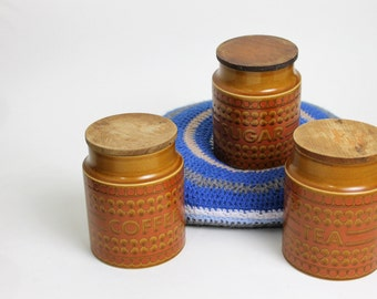 Hornsea Saffron Tea, Coffee and Sugar Canister Set