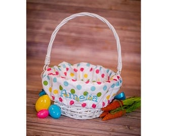 Personalized Easter Basket Liner - Personalized Basket Liner For Easter - Easter Basket
