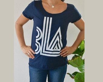 Bla. Clothing. Women's T-Shirt. Women's Fun Shirt. Women's Wide Neck Shirt. Mom's T-Shirt. Non-Sense Talk Shirt.