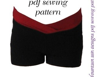 Gymnastics dance shorts 2 pdf sewing pattern girls sizes 2-14
