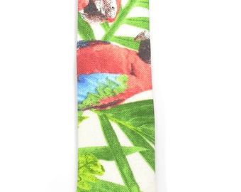 Red, Green textured tie, Wedding Mens Tie Skinny Necktie
