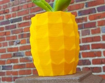 3D Printed Pineapple Indoor Outdoor Planter Kitschy Decor