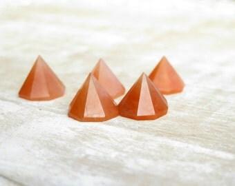 Peach Aventurine Octagon Pyramids