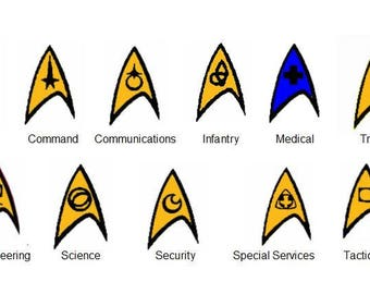 Star Trek Embroidered Patches 11 to Choose From