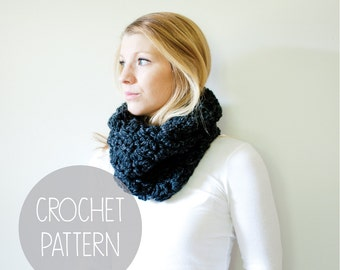 chunky crochet cowl pattern - the morgan cowl