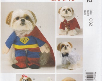 Dog Coat & Costume Pattern McCalls 6862 Uncut