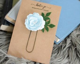 Felt Flower Planner Clip/Felt Flower Bookmark/Felt Flower Paper Clip/Planner Accessory/Book Accessory