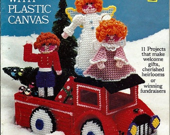 Christmas Merry-Making with Plastic Canvas Pattern Book Coats & Clark 5950-05