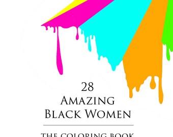 28 amazing black women coloring book