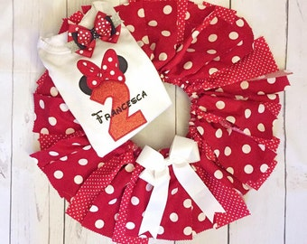 Mouse tutu, mouse birthday tutu, red mouse tutu, mouse halloween costume, Mouse fabric tutu, baby mouse birthday tutu, red mouse tutu UD