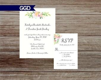 Boho Wedding Invite | Etsy