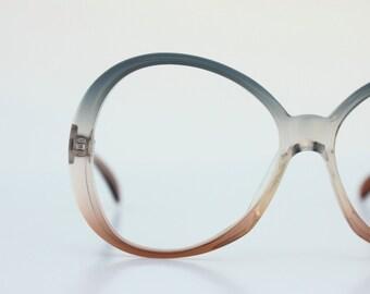 Vintage 70's Smokey Green Eyeglasses Sunglasses
