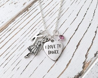 Personalized Love to Dance Necklace