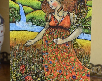 The Empress from Mythic Tarot greeting card