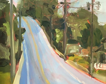 Original art-Oil painting-Landscape art-Plein air-Contemporary vibe-Urban art-Street-Affordable home decor-Impressionist-Small art-Unique